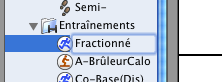 Garmin tutoriel fractionné