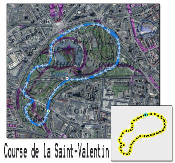 Parcours de la course de la Saint-Valentin