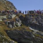tor des geants 2012 spettatori al rifugio deffeyes