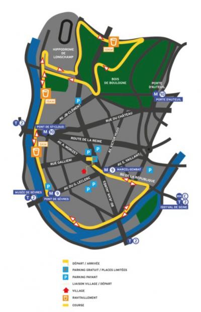 parcours semi marathon de boulogne-billancourt 2012