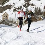 1 de g à d Michel Lanne et Renaud Castiglioni  1er et 2ème 22 km Snow trail Ubaye Salomon photo Robert Goin 119 A