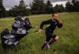 Parachute et course à pied