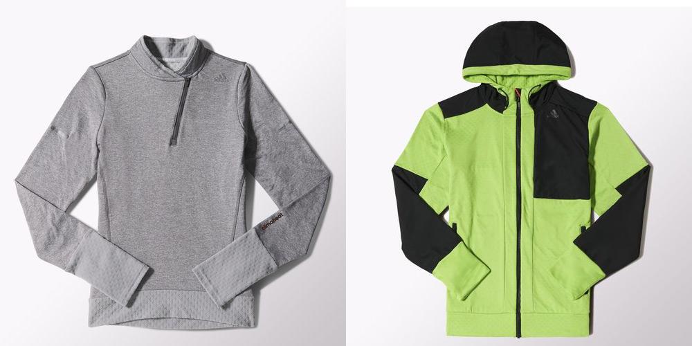 Veste adidas Climaheat et tee shirt long : le test