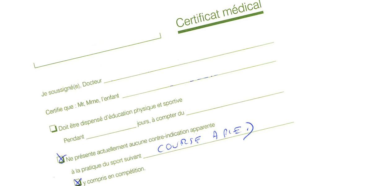 Alors ce certificat médical