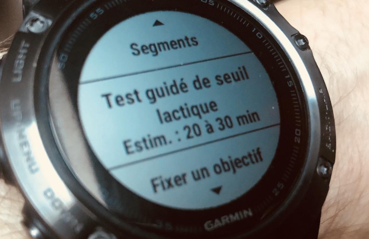 Garmin Fenix 5 : déterminer votre seuil lactique