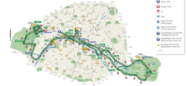 parcours marathon paris 2019