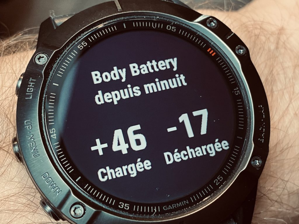 Garmin fenix 6 body battery