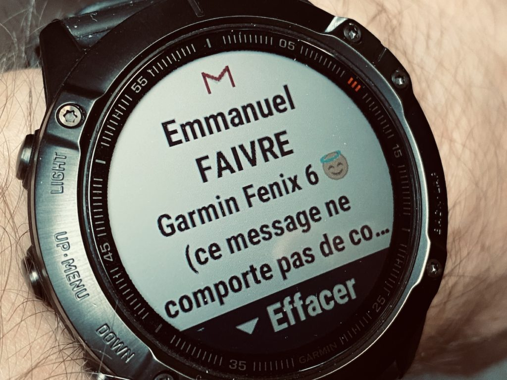 notifications Garmin Fenix 6