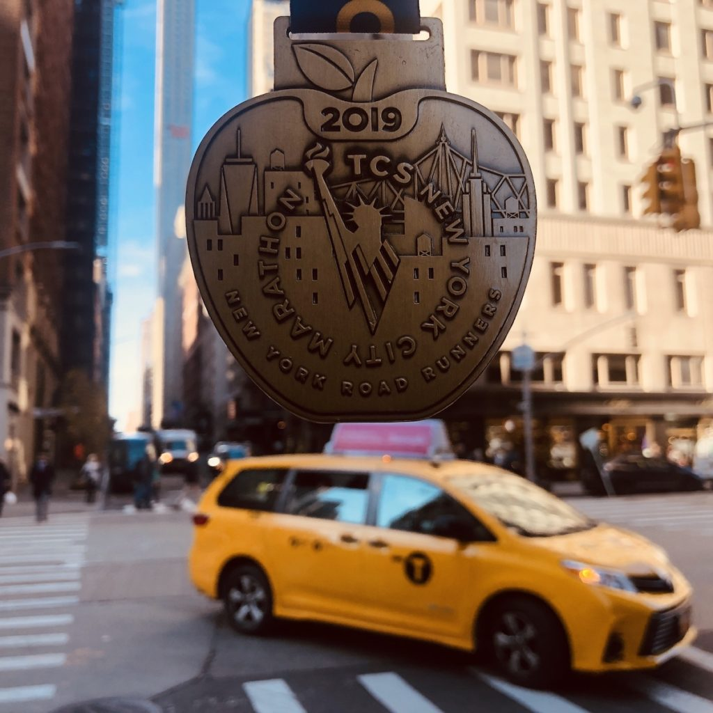 medaille marathon new-york 2019