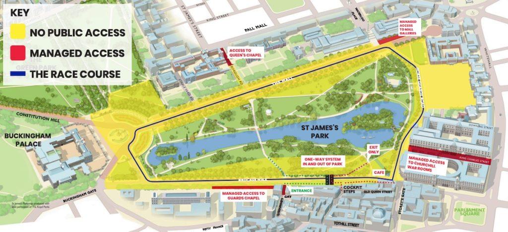 Parcours marathon de Londres 2020
